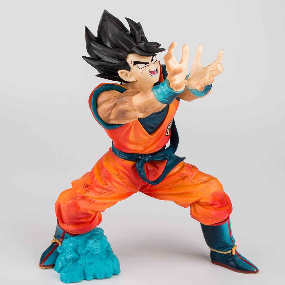Anime Dragon Ball Z Son Goku Figures Shock Wave Super Saiyan Son Gokou Dragonball PVC Action Figure Model Toys Brinquedos 17CM