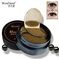 Manfriend negro perla oro Gel Eye Mask 60 unids eliminar círculo oscuro bolsa del ojo antiarrugas lujo parches en los ojos de blanqueamiento de humedad