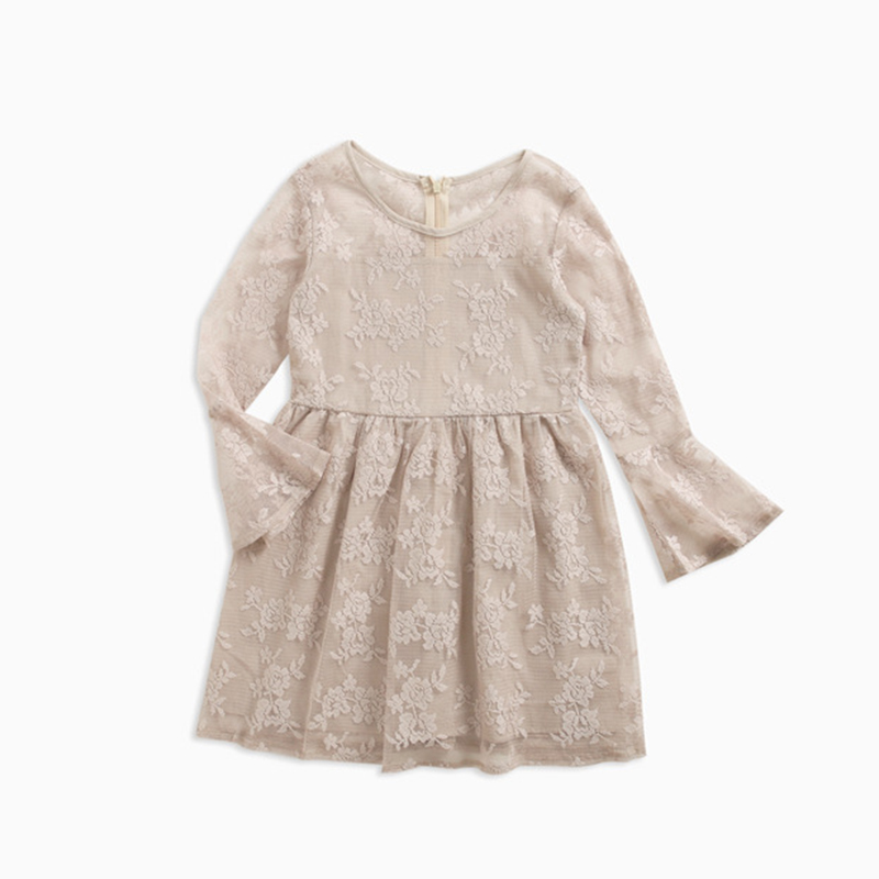 2018 NEW Baby Girls Dress Kids Clothes Tutu Lace Knee-Length Party Princess Dresses Children Clothing Girl Costume 3-12T floral dresses children crochet girls baby kids clothing 3 4 sleeve princess lace tutu brief party mini white dress girl 2 11y
