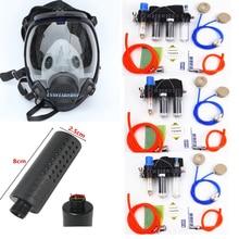 Função química fornecido ar alimentado sistema do respirador da segurança com 6800 respirador da máscara de gás da indústria da cara completa