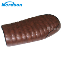 Brown Vintage Flat Brat Motorcycle Seat Cafe Racer Saddle CB100 CB200 350 400SS 500 750 CL100 125S SR400 SR500 Moto Retro Seat