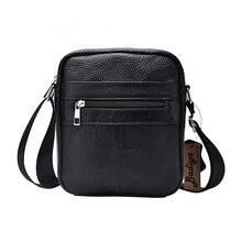Натуральная кожа сумка для Для мужчин одноцветное Для Мужчин's Бизнес сумки через плечо из натуральной кожи черного цвета большой Ёмкость один сумка