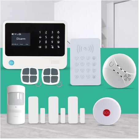 WiFi GSM alarm security alarm system APP control gsm wifi burglar alarm with keypad arm disarm / smoke detector / SOS button secual box v2 etiger wifi alarm system gsm safety alarm system with rfid reading keypad arm disarm alarm system