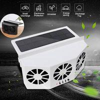 2 renk yüksek güç çift mod güç kaynağı için güneş enerjili egzoz fanı otomatik havalandırma fanı araba solungaçları soğutucu