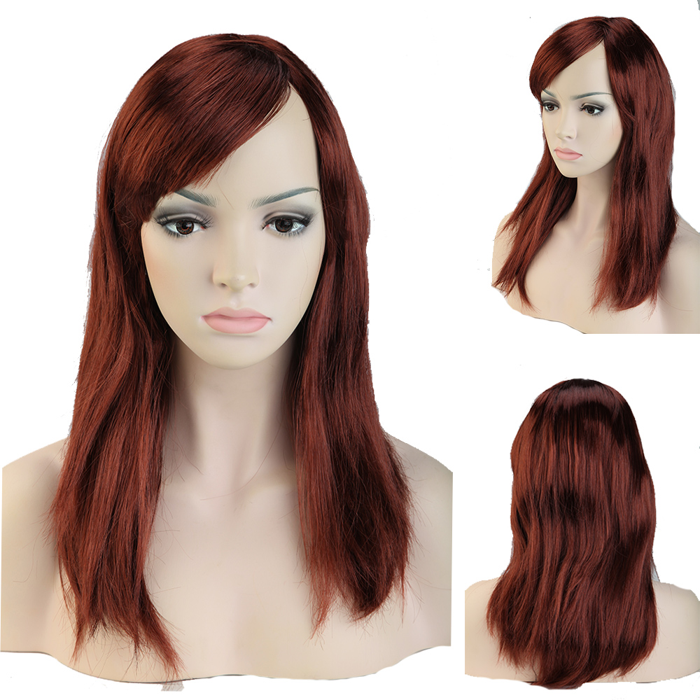 Wig Long Straight Red Auburn 112