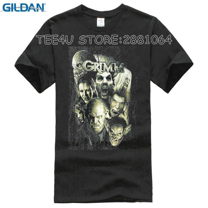 Tee4U Design Your Shirt Short Grimm Wesen Men Printed O Neck Tee