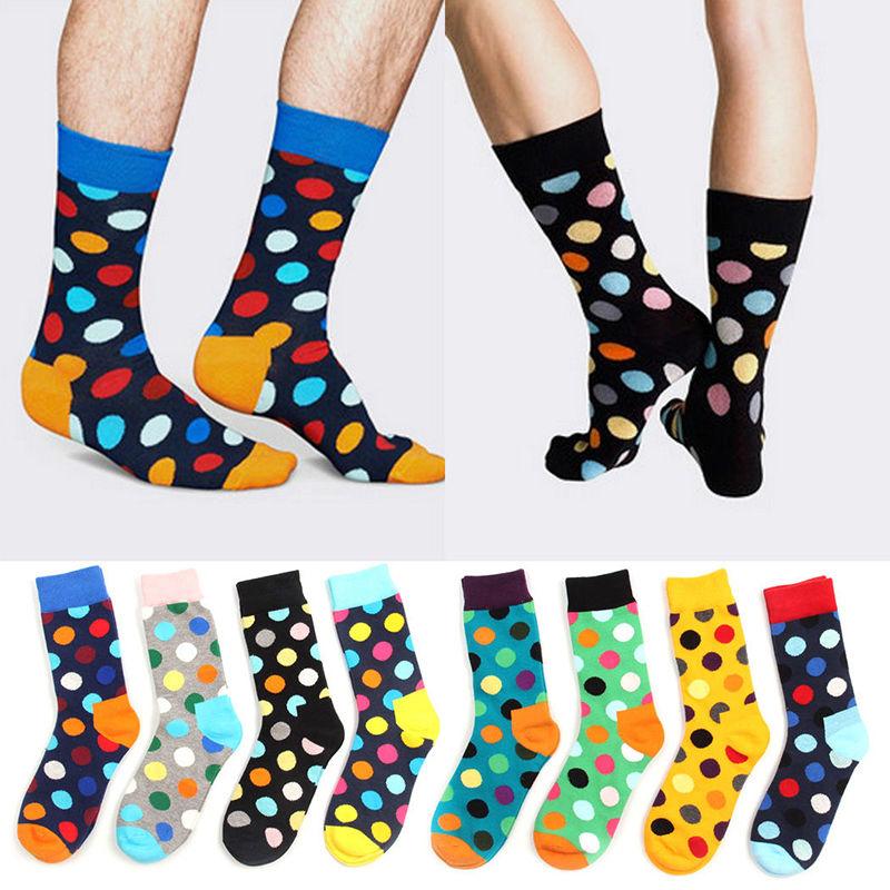 Underwear & Sleepwears Forceful Men Fashion 3d Printed Art Socks Circle Cotton Crew Socks Winter Spring Leg Warmer British Style Funny Sokken Calcetines