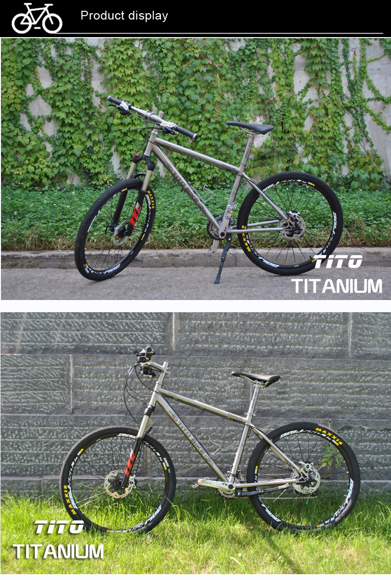 HTB13C4dPXXXXXbKXXXXq6xXFXXX1 - TiTo titanium alloy MTB bike XT silver fits 20 Pace or 30 Pace 26 27.5 wheelgroups  titanium bicycle
