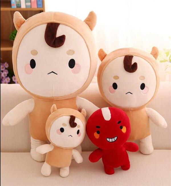 55cm buckwheat Red Bean coreano version Korean ghost drama TV Bed Sofa Doll Plush Stuffed Sleeping Baby Child Toy Gift pillow