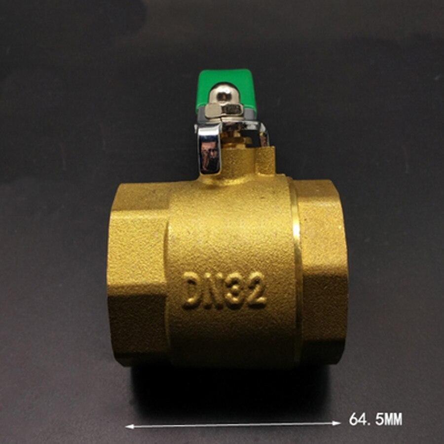 Heimwerker Zielsetzung Dn32 1-1/4 bsp Weibliche Big-körper Messing Kugelhahn Wasser Gas Mit Griff Mangelware