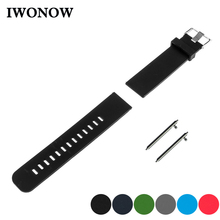 Silicone Rubber Quick Release Watch Band 17mm 18mm 19mm 20mm 21mm 22m for