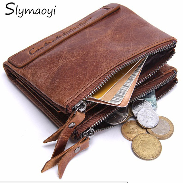 Genuine Leather Man Wallet Male Top Quality Purse Multifunction Men Wallets 100% Cowhide Famous Brand Short Coin Pocket