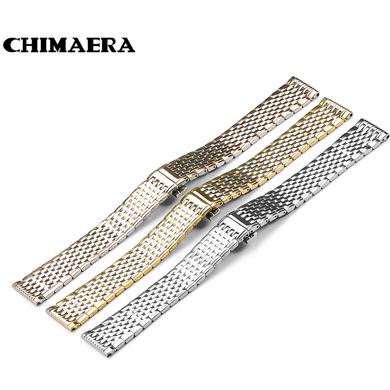 Stainless Steel Watchband 13mm18mm Flat Straight End Metal Bracelet Watch Band Strap for Longines Women Top Quality New top quality new stainless steel strap 18mm 13mm flat straight end metal bracelet watch band silver gold watchband for brand
