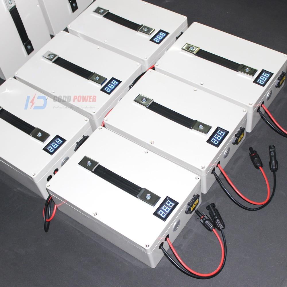 12 V LED li ion batterie 12 V 40AH solaire Li ion batterie pêche choc poisson Portable multifonction 500 W vélo électrique avec 5 V USB