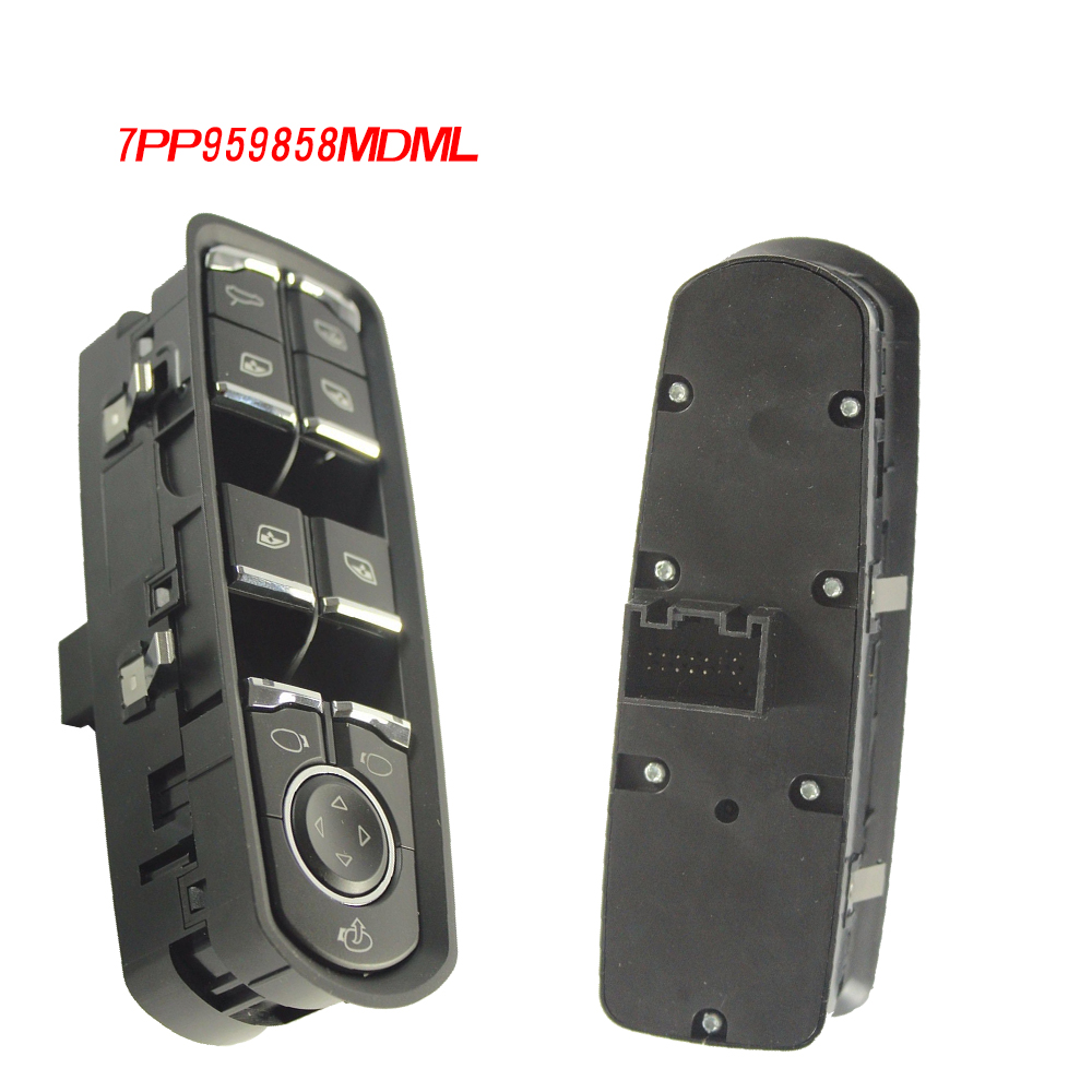 7PP959858MDML Front Door Master Window Switch For Porsche Panamera Cayenne Macan цена
