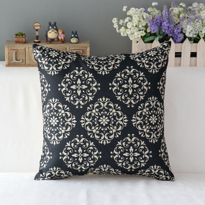 Vintage Flower Pillow Cover Striped Cushion Cover Geometric Pillow Case for Sofa Car Home Decoration Pillowcase