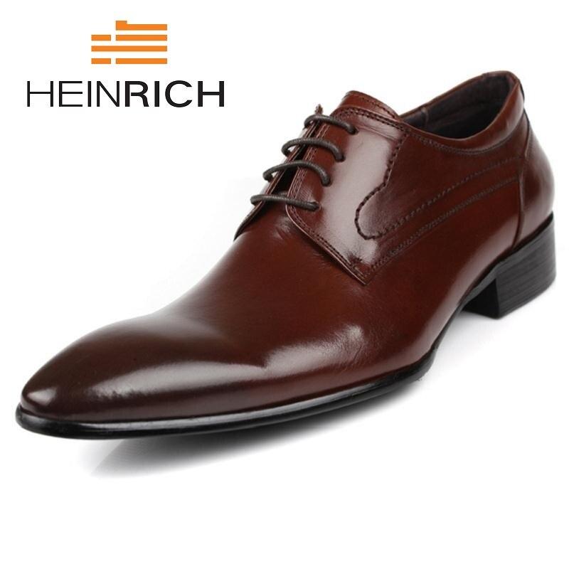 Preto Heinrich Confortável Luxo Marca Homens Lace Derby De Sapatos Genuínos Formais Black up Couro Vestido brown Negócios HpwrPHxnzq