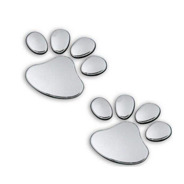 Cute window silver bumper body decal sticker bear dog animal paw foot prints pattern for 3d