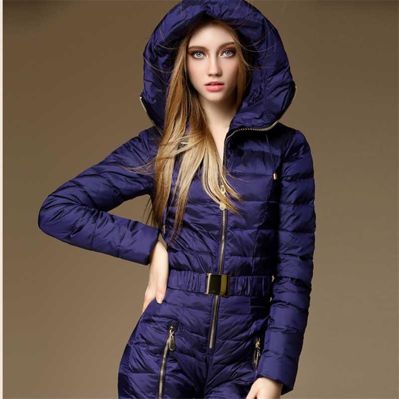 2019 新冬服セット上着高品質スキースーツ女性のスキージャケット + パンツ屋外スキースーツ送料無料
