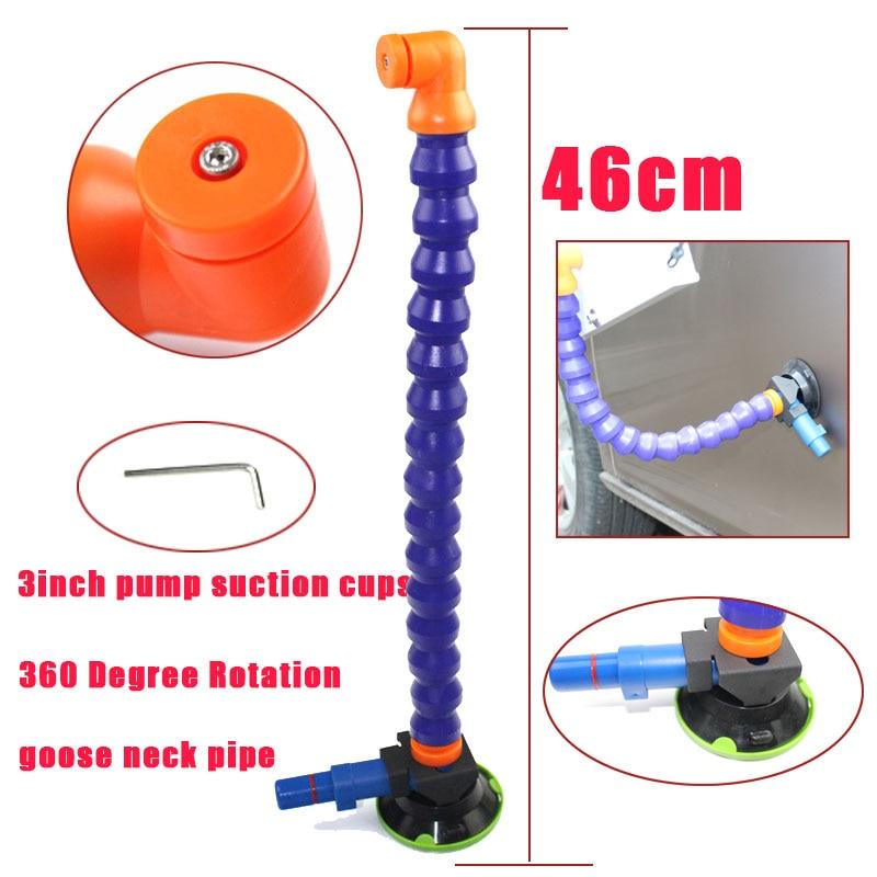 Flexible col de cygne tuyau pour PDR ROI LED lampe avec 3 pouce Pompe À Main Ventouse