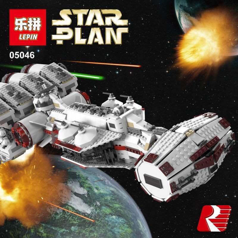 05046 1748Pcs Compatible Toys 10019 Star War Tantive IV Rebel Blockade Runner Model Building Kits Figures Blocks Bricks