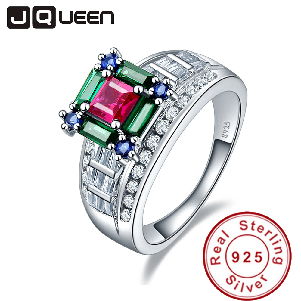 Jewelry & Watches Engagement & Wedding Creative Natural Emerald Ruby Sapphire Pendant 925 Sterling Silver Wedding Jewelry Gifts