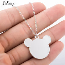 Jisensp Hot Selling Simple Design Dainty Cute Mickey Necklace Cartoon Style Baby Mouse Necklace Christmas Gift Birthday Collar(China)