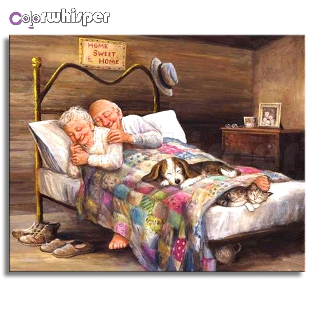 Diamond Painting 5D Full Square/Round Loving Old Couple Rhinestone Daimond Painting Embroidery Cross Stitch Home Decor Gift Z003Diamond Painting 5D Full Square/Round Loving Old Couple Rhinestone Daimond Painting Embroidery Cross Stitch Home Decor Gift Z003