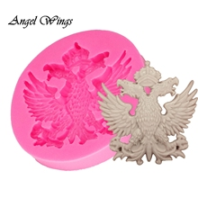Double Eagle shape Sugarcraft silicone mold fondant cake decorating tools chocolate gumpaste baking DY0032