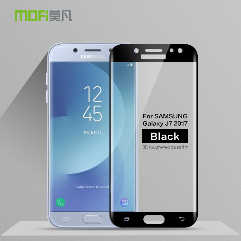 MOFi For Samsung Galaxy <font><b>J7</b></font> 2017 Tempered Glass 3D Full Cover Screen Protector For Samsung Galaxy <font><b>J7</b></font> 2017 Protective Film