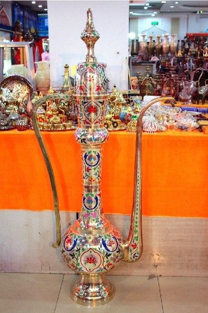 Indian Handicrafts Wholesale Bronze 60 Inches Bronze Colored Pot
