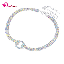 Fashion Women Crystal Gleaming MultiColor 3 Row Rhinestone Choker Chain Necklace Wedding Bridal Party Prom  Necklace Jewelry