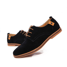 FONIRRA 2019 New Men's Genuine Leather Casual Shoes Men Spring Autumn Men's Shoes Lace-Up Solid Men Flat with Shoes 046