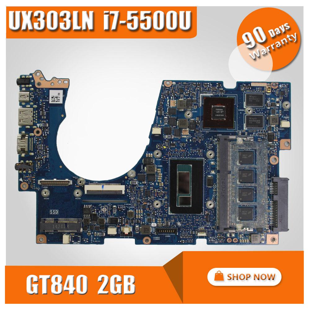 UX303LN For ASUS UX303LA UX303 UX303L UX303LG UX303LN Laptop motherboard UX303LN mainboard REV2.0 I7-5500U CPU GT820 100% test ipc floor pca 6114p10 rev b1 100% test