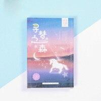 30 pcs/pack Kawaii Dream forest Luminous postcard Greeting Card Postcard Birthday Gift Card Set Message Card