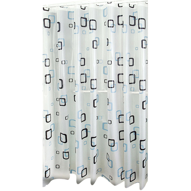 Black White Square Shower Bathroom Thickened Curtains Smooth Plaid Reliable Quality