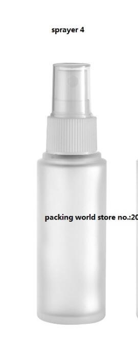 30 мл матовое стекло бутылки с пластиковый насос/распылитель для лосьон/эмульсия/сыворотка/Фонд/тонер /опрыскиватель уход за кожей упаковка - Цвет: sprayer 4