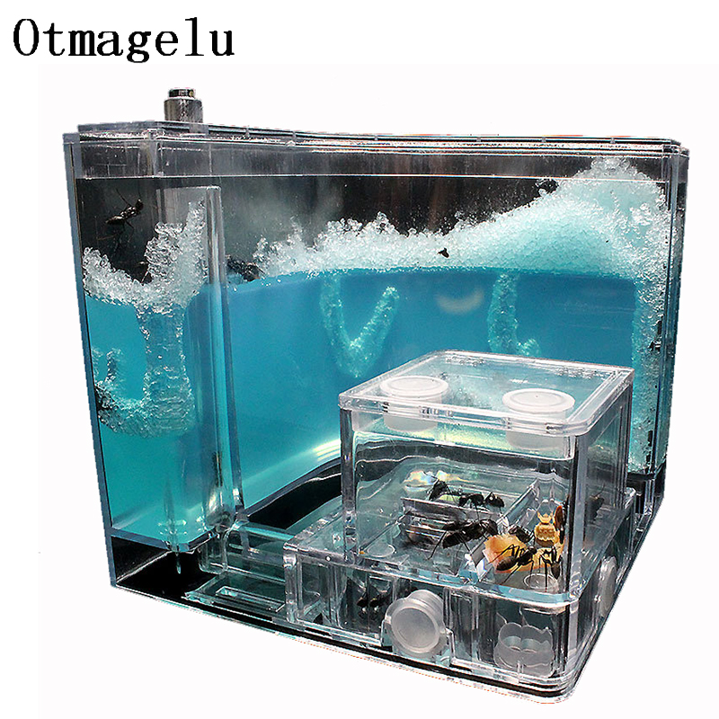 Ants Farm Ants House Castle Transparent Insects Terrarium Ant Cage Insects Observed Box Nursery Ecological Educational Model Toy