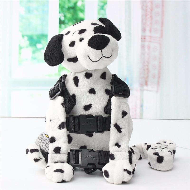 Newbealer უსაფრთხოების აღკაზმულობა Strap Strip Baby ბავშვთა ბავშვის პატარა ბავშვი ფეხით Reins ზურგჩანთის ტომარა Dalmatian Puppy