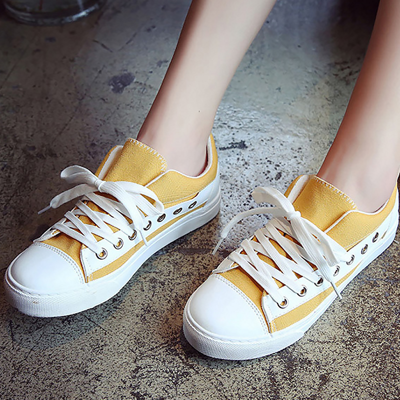 Fashion brand sneakers cross tied ladies canvas shoes women sneakers leisure white sneakers zapatillas mujer