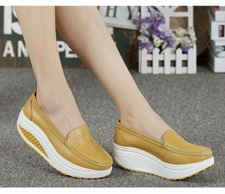 New Womens Shake Shoes Lady Genuine Leather shoes (35)