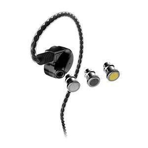 Image 2 - Amerika papağanı GT600S çift sürücü hibrid kulaklık DJ monitör profesyonel kulaklık gürültü iptal kulakiçi ayrılabilir Mmcx kablo
