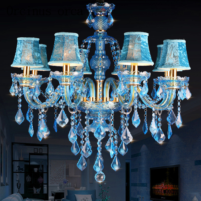 Mediterranean blue crystal chandeliers bars guest rooms lobby post mediterranean blue crystal chandeliers bars guest rooms lobby post modern creative blue decorative chandeliers free shipping aloadofball Images