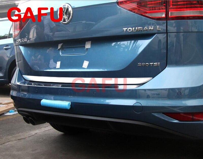 For VW TOURAN 2016 2017 Sticker Stainless Steel back door Tailgate trim 1pcs for 2014 2015 peugeot 2008 door sticker stainless steel back door tailgate trim car styling accessories