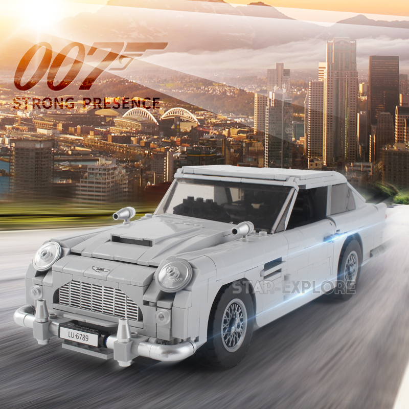 Lepin 21046 Technic Series The Legoing 007 10262 Aston Martin DB5 Set Building Blocks Bricks Kids Toys Car Model Christmas Gifts