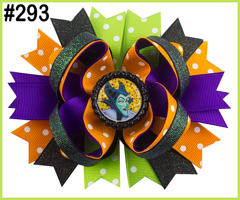 free shipping 2017 Newest 50pcs halloween boutique hair bows thanksgiving hair bows fall hair bows turkey