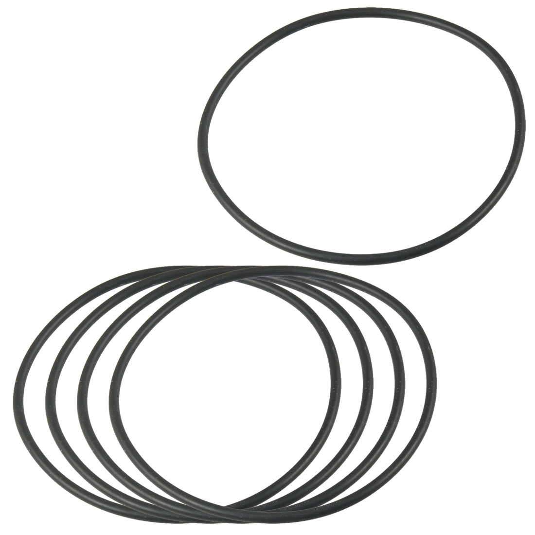 5Pcs Flexible Rubber O Ring Seal Washer Gasket Black 125mm x 2.4mm