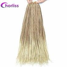 Лучший!  Chorliss Box Косы Вязание крючком Наращивание волос Вязание крючком Косы Синтетический Ombre Серый
