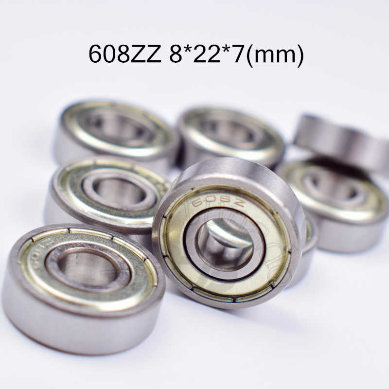 608ZZ 8*22*7(mm) 10pieces bearing free shipping ABEC-5 metal Sealed chrome steel bearings use to skateboard Roller skates