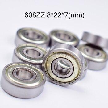 608ZZ 8*22*7(mm) 10pieces bearing free shipping ABEC-5 metal Sealed chrome steel bearings use to skateboard Roller skates цена 2017